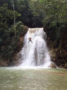 mały wodospad w okolicy El Limon