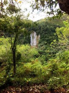 wodospad El Limon z naszego punktu widokowego