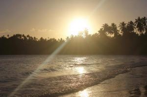 zachód słońca w okolicach Cayo Levantado